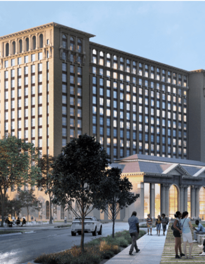 Rendering of updated Michigan Central Depot.