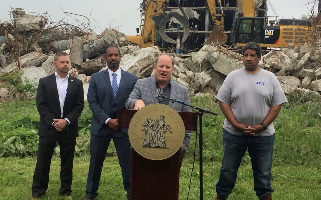 Vacant Cadillac Stamping Plant being demolished to clear way for new industrial facility; Detroiters being prioritized to fill 450 jobs created there
